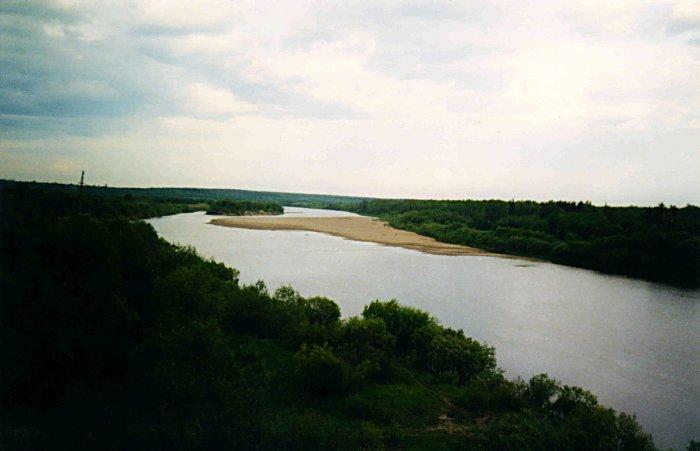 Река унжа вид с моста